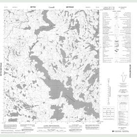 Canadian Topo Map - Lake Providence - Map 086A16