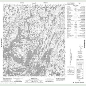 Canadian Topo Map - Arseno Lake - Map 086B12