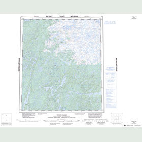 Canadian Topo Map - Indin Lake - Map 086B