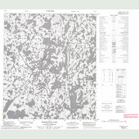Canadian Topo Map - Koropchuk Lake - Map 086C02