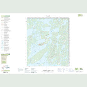 Canadian Topo Map - Rae Lake - Map 086C03