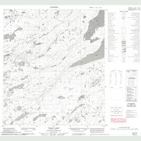 Canadian Topo Map - Taka Lake - Map 086C04