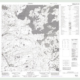Canadian Topo Map - Bober Bay - Map 086C05