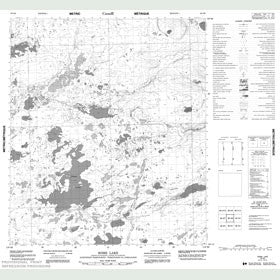 Canadian Topo Map - Rome Lake - Map 086D08