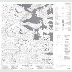 Canadian Topo Map - Beaverlodge Lake - Map 086D09