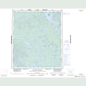 Canadian Topo Map - Riviere Grandin - Map 086D