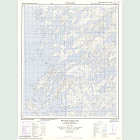 Canadian Topo Map - Map 086E01