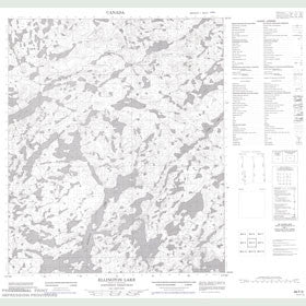 Canadian Topo Map - Ellington Lake - Map 086F03
