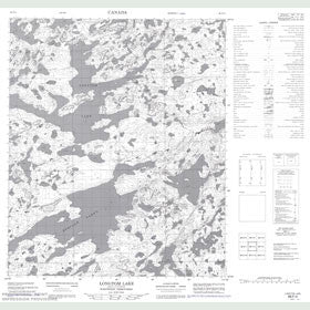 Canadian Topo Map - Longtom Lake - Map 086F04