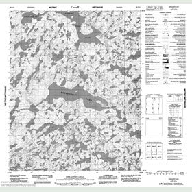 Canadian Topo Map - Breadner Lake - Map 086F15