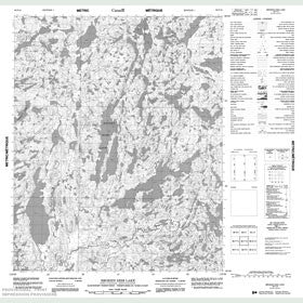 Canadian Topo Map - Broken Dish Lake - Map 086F16
