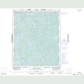 Canadian Topo Map - Calder River - Map 086F