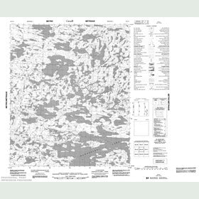 Canadian Topo Map - Map 086G02