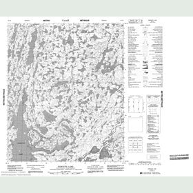 Canadian Topo Map - Exmouth Lake - Map 086G04