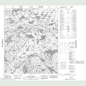 Canadian Topo Map - Havant Lake - Map 086G13