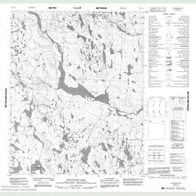 Canadian Topo Map - McIntosh Lake - Map 086G15
