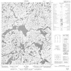 Canadian Topo Map - Map 086I09