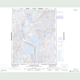 Canadian Topo Map - Napaktulik Lake - Map 086I