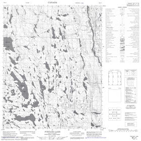 Canadian Topo Map - Fontano Lake - Map 086J07