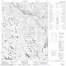 Canadian Topo Map - Muskox Lakes - Map 086J11