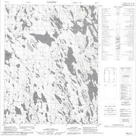 Canadian Topo Map - Map 086J15