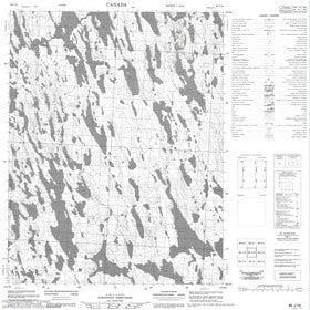 Canadian Topo Map - Map 086J16