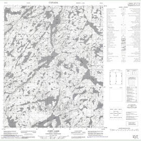 Canadian Topo Map - Copp Lake - Map 086K02