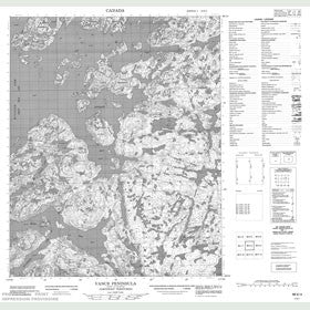 Canadian Topo Map - Vance Peninsula - Map 086K04