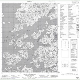 Canadian Topo Map - MacAlpine Channel - Map 086K05
