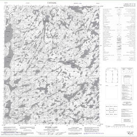 Canadian Topo Map - Storm Lake - Map 086K06