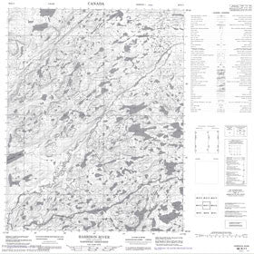 Canadian Topo Map - Harrison River - Map 086K11