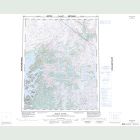 Canadian Topo Map - Sloan River - Map 086K
