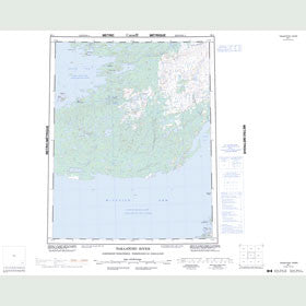 Canadian Topo Map - Takaatcho River - Map 086L