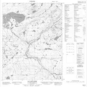 Canadian Topo Map - Lac Rouvière - Map 086N03