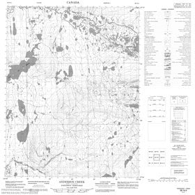 Canadian Topo Map - Anderson Creek - Map 086N04