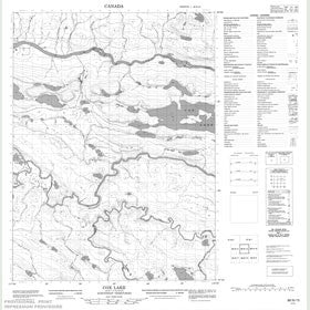 Canadian Topo Map - Cox Lake - Map 086N15