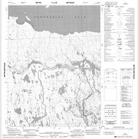 Canadian Topo Map - Map 086P12