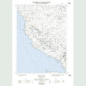 Canadian Topo Map - Dickens Point - Map 087A10E