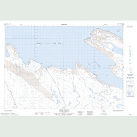 Canadian Topo Map - Cape Young - Map 087B16