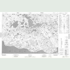 Canadian Topo Map - Innirit Hills - Map 087D05