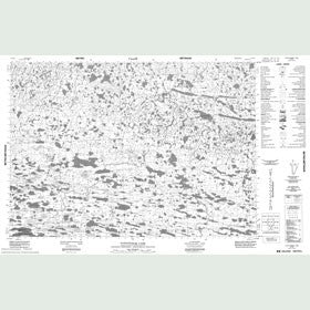 Canadian Topo Map - Tuttuturaq Lake - Map 087D07
