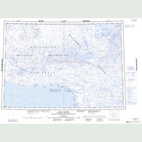 Canadian Topo Map - Read Island - Map 087D
