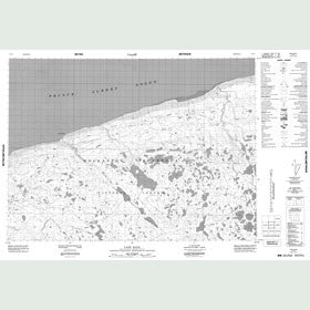 Canadian Topo Map - Cape Back - Map 087F01