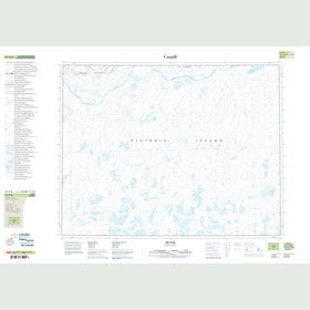 Canadian Topo Map - Map 087H08