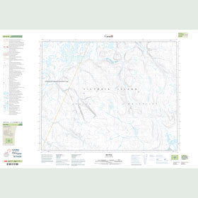 Canadian Topo Map - Map 087H16