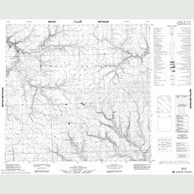 Canadian Topo Map - Map 088E09