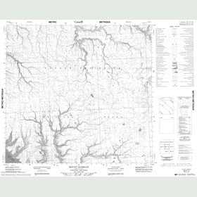 Canadian Topo Map - Mount Hamelin - Map 088E10