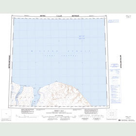 Canadian Topo Map - Mercy Bay - Map 088F