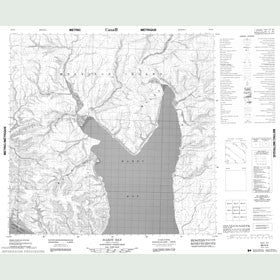 Canadian Topo Map - Hardy Bay - Map 088H04