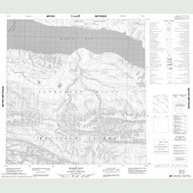 Canadian Topo Map - Marie Bay - Map 089A04